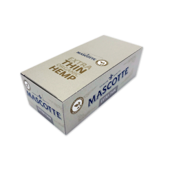 MASCOTTE Organic Hemp Extra Thin Cigarette Rolling Papers Full Box 50 Packs