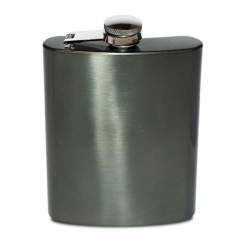 Crafter's Tanker Stainless Steel Hip Flask Gray (236ml/8oz.)